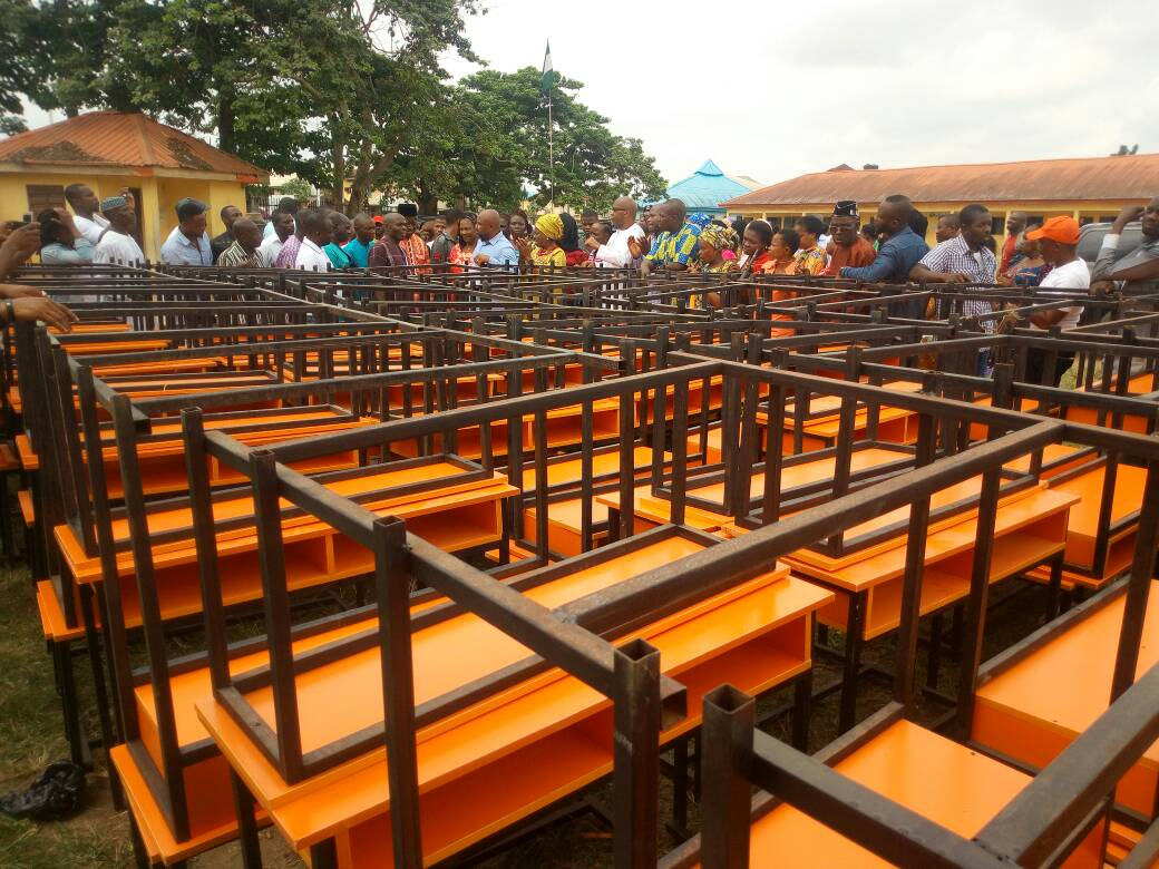 Uyo Law maker Monday Eyo donates to children