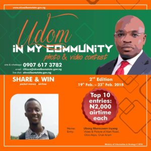 SEE WINNERS OF UDOM IN MY COMMUNITY PHOTO/VIDEO CONTEST