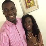 Cavil and Itoro Flaunting the ring after engagement in Uyo