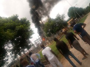 Fire Outbreak In Afaha Ube Power-Sub Station.