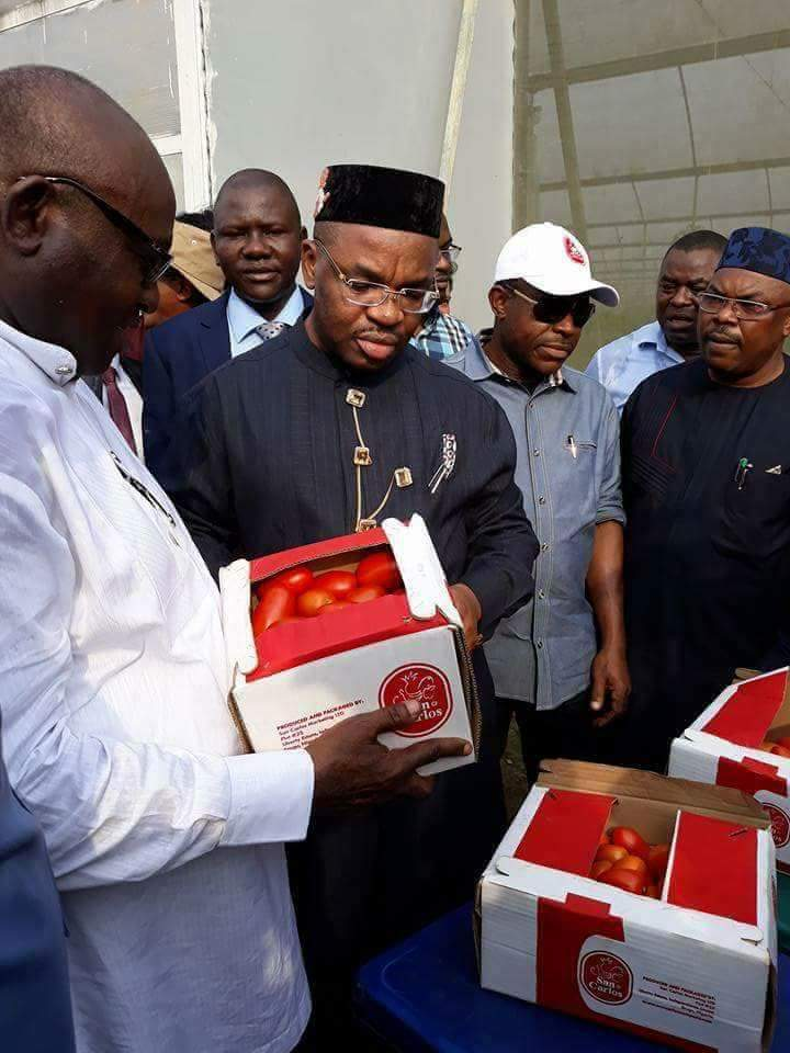 Gov Udom Emmanuel with Agricultural change in Akwa Ibom