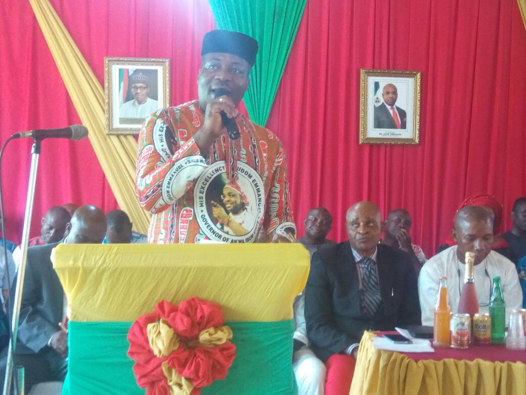 Photo of 100 Days in office: CLETUS EKPO BRIEFS ETINAN PEOPLE ON ACHIEVEMENT