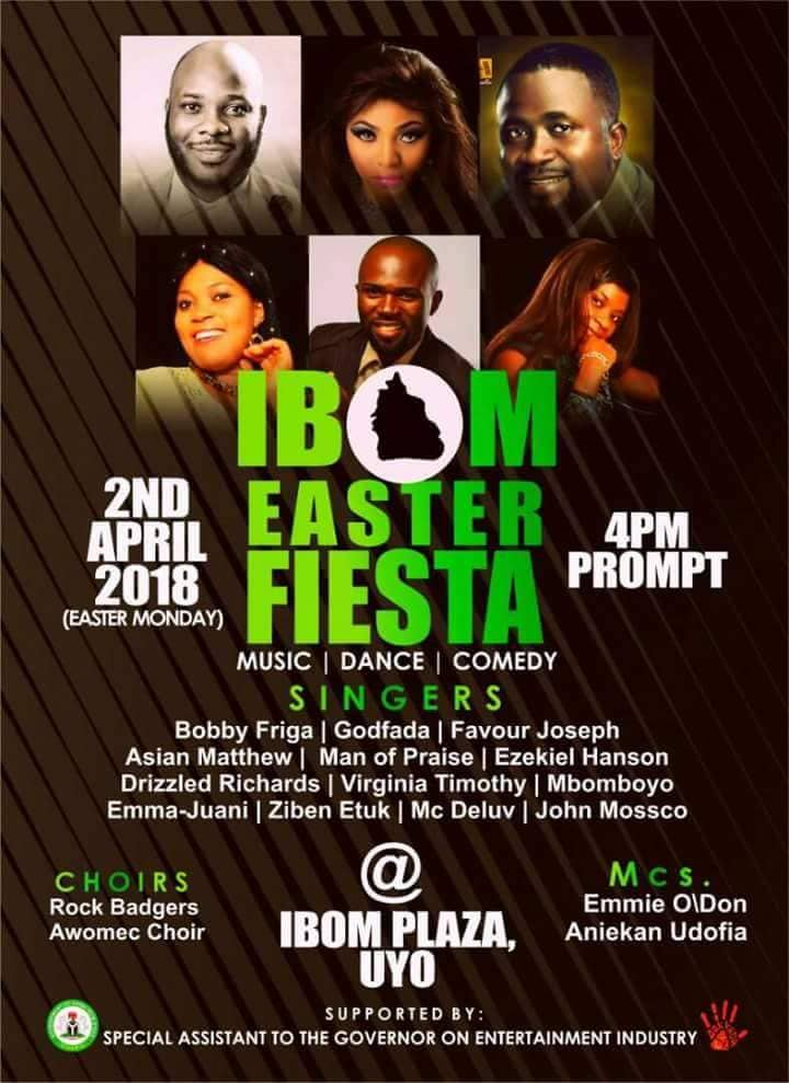 IBOM EASTER FIESTA SEASON 3: Gov Emmanuel, Wife, Speaker Luke, Inyang-Eyen Ors To Storm Ibom Plaza, Today