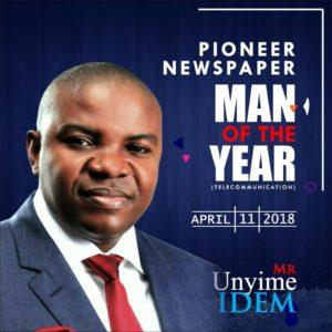 PIONEER NEWSPAPER HONOURS MR UNYIME IDEM