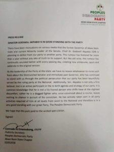 Akpabio Press release