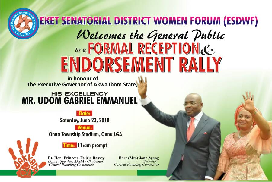 EKET SENATORIAL DISTRICT WOMEN HOLD ENDORSEMENT RALLY FOR GOV. EMMANUEL