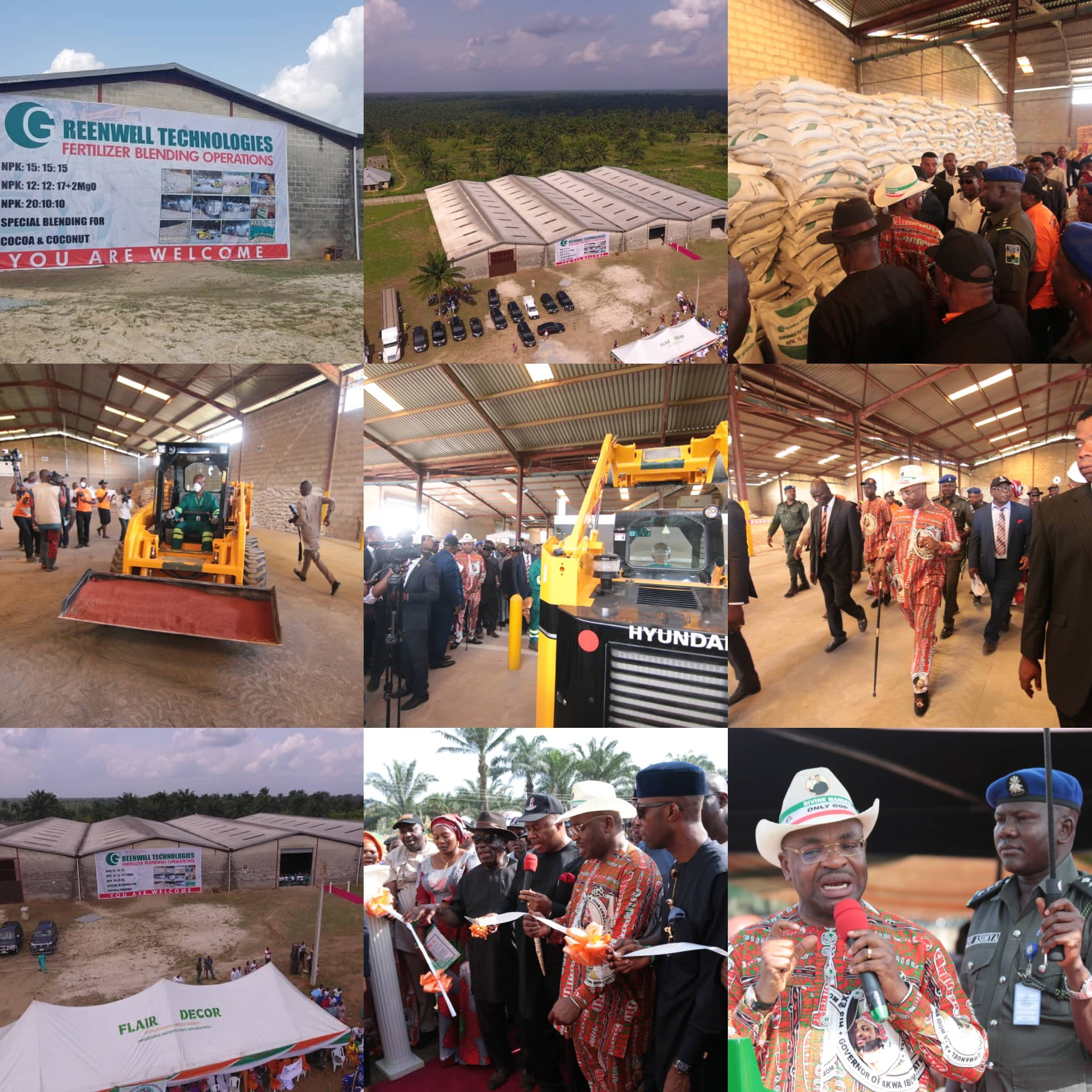 GOV EMMANUEL INAUGURATES FERTILISER BLENDING, CASSAVA PROCESSING FACTORIES