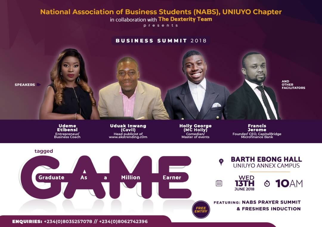 About The GAME Entrepreneurial Conference.