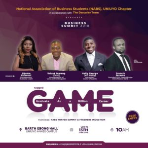 Uyo to Host The #GAME Entrepreneurial Conference On 13th June 2018