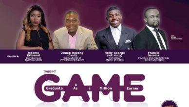 Uduak Inwang (Cavil) to spesak at The GAME Entrepreneurial Conference.