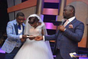 CELEBRATION AS UYO PASTOR DONATES LAND, CAR TO MEMBERS ON THEIR WEDDING DAY