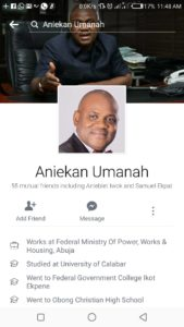 FAKE FACEBOOK ACCOUNT – ANIEKAN UMANAH: A DISCLAIMER