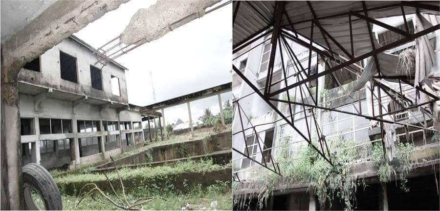 This is Akwa Ibom State Secretariat Annex. It was an abandoned '10th Anniversary Hotel building'.