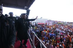 EKET SENATORIAL DISTRICT DEFIES RAIN TO ENDORSE GOV EMMANUEL FOR 2ND TERM
