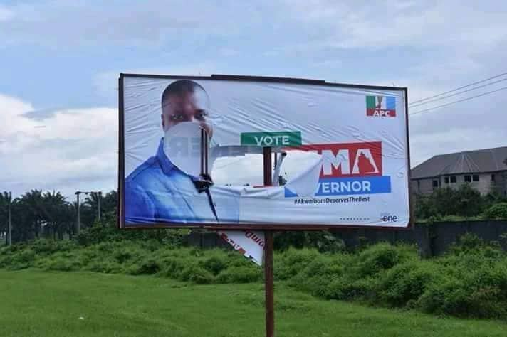 Angry APC youths destroyed Nsima Ekere billboards