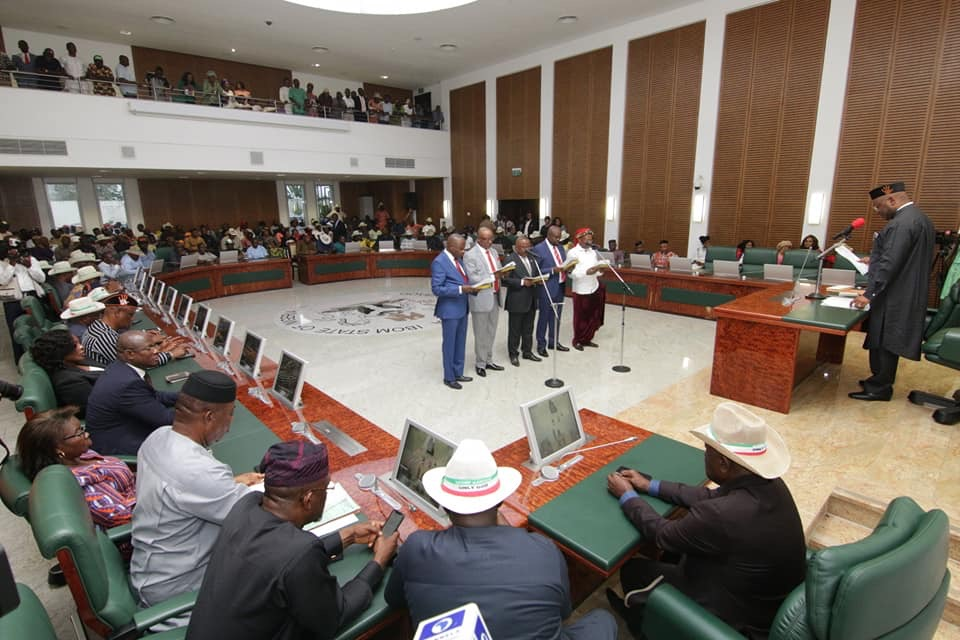 Udom Emmanuel Reshuffles Cabinet...See Names.