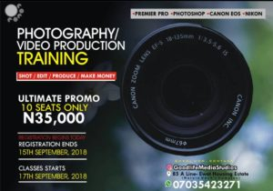 Enrol today in this photo/video production training to equip yourself