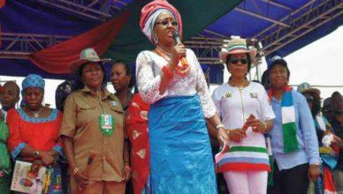 Aisha Buhari condemns APC primaries, says impunity happening under Oshiomhole