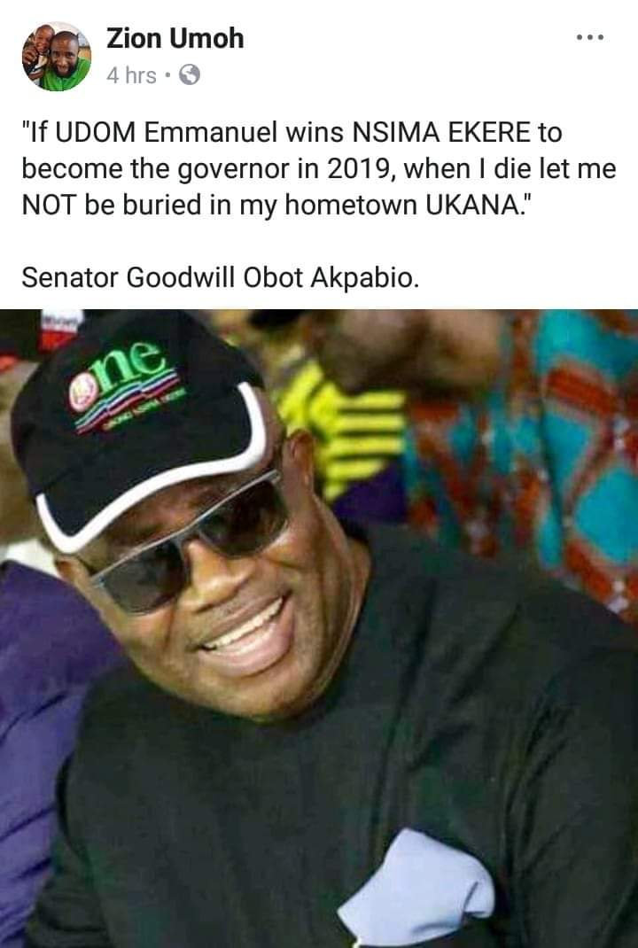 Moment of Truth: Exposing the Akpabio's agenda