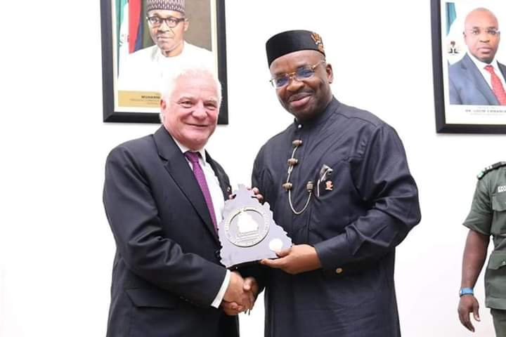 AKWA IBOM REMAINS MOST PEACEFUL STATE IN NIGERIA, GOVERNOR EMMANUEL TELLS INVESTORS
