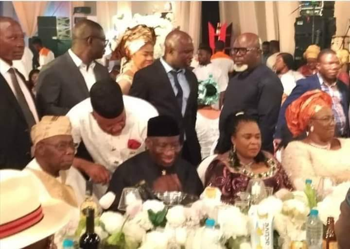 """Photo of PHOTO SPEAKS: GODSWILL OBOT AKPABIO BEING REJECTED BY FELLOW """"NATIONALISTS"""" DURING THE WEDDING OF TIMI ALAIBE'S DAUGHTER."""