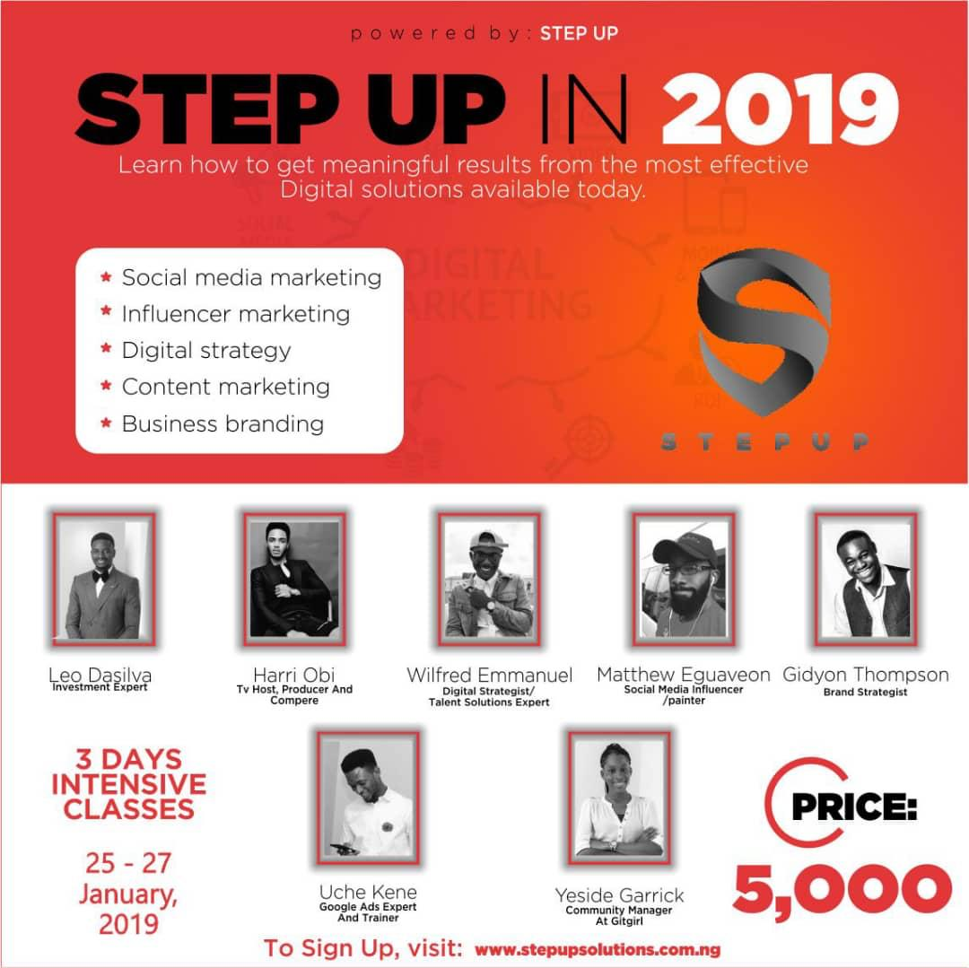 Photo of CAVIL CONSULT Partners to Present STEP UP IN 2019, learn how to make money from the internet.