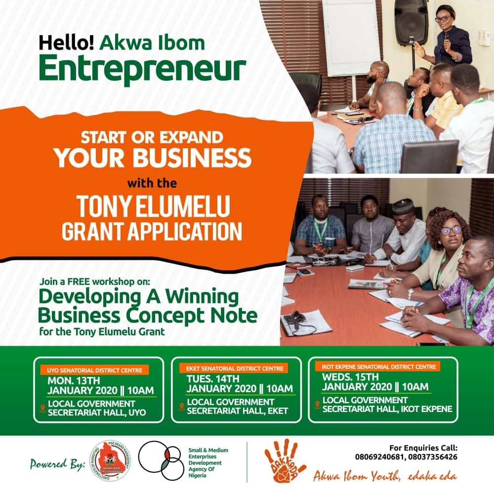 Photo of FREE TRAINING ON DEVELOPING A WINNING BUSINESS CONCEPT NOTE FOR THE TONY ELUMELU GRANT