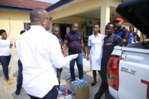 Ini Ememobong Foundation takes COVID-19 Sensitisation to FRSC, The Nigeria Police Hospital and Comfort Fm.
