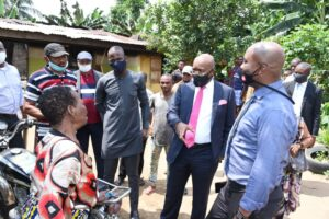 Enobong Uwah visits Fire Outbreak Victim…Pledges to build new Apartment